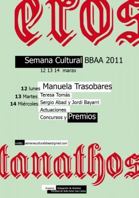 Manuela Trasobares en la Semana Cultural de la Facultat de BBAA