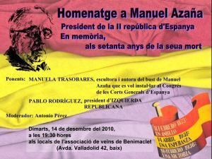 Ponencia de Manuela Trasobares en el Homenaje a Manuel Azaña